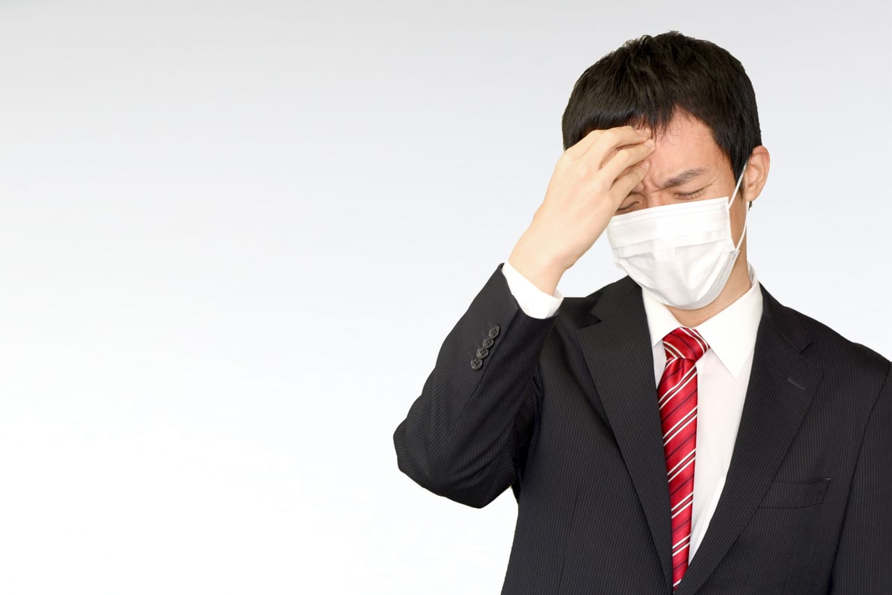マスク男性の写真