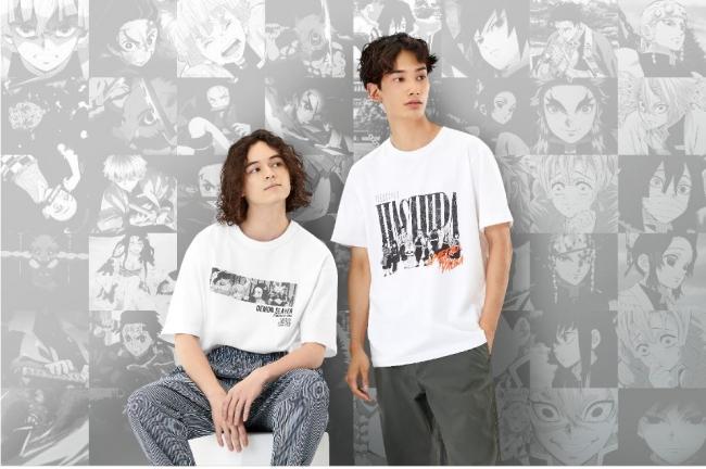 ユニクロと鬼滅のコラボ左:GU、右:「UT」第2弾(プレスリリースより)